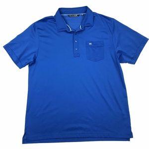 Travis Mathew Pima Knit Golf Polo Shirt Sz XL